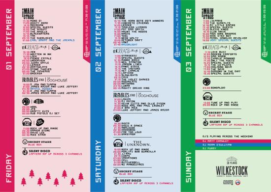 Wilkestock schedule